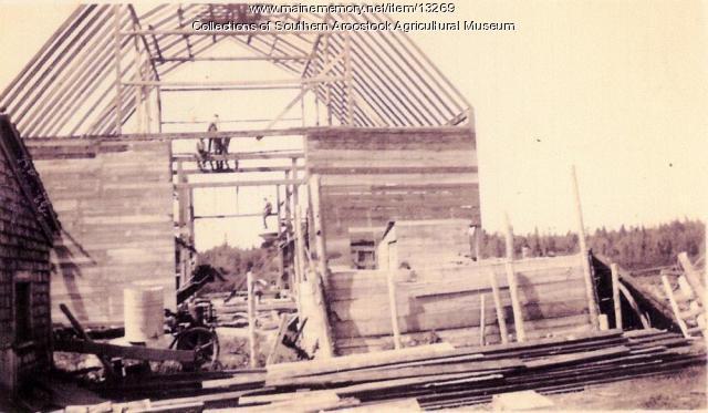 To the barn peak, Littleton, ca. 1900