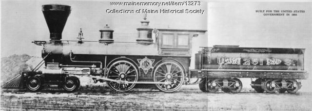 Portland Company Civil War locomotive, ca. 1863