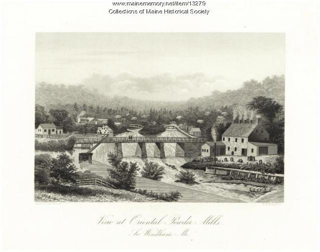 Oriental Powder Mills, South Windham, ca. 1855
