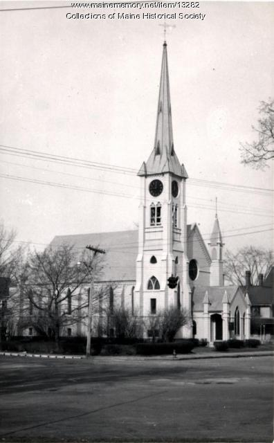 Warren Congregational Church, Westbrook, ca. 1950