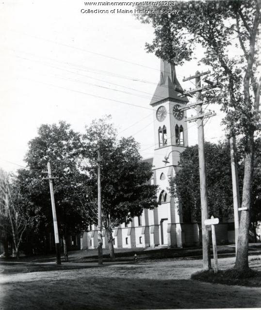 Warren Congregational Church, Westbrook ca. 1940
