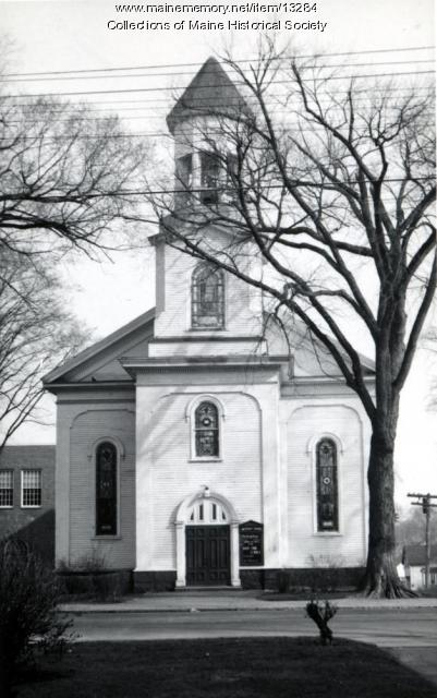 Methodist Church, Westbrook, ca. 1940