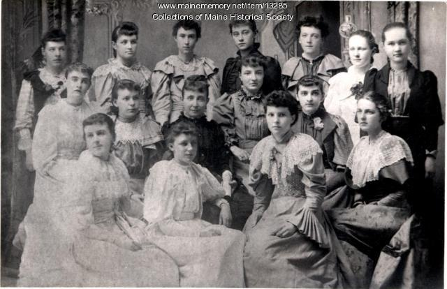 Sunday School class, Westbrook, 1889