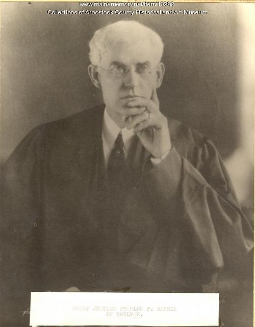 Chief Justice Charles P. Barnes, Maine Supreme Court