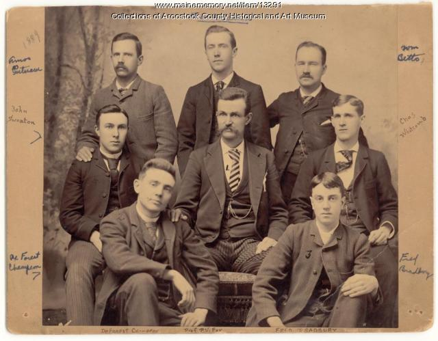 Professor Fox and music class, Houlton, 1889