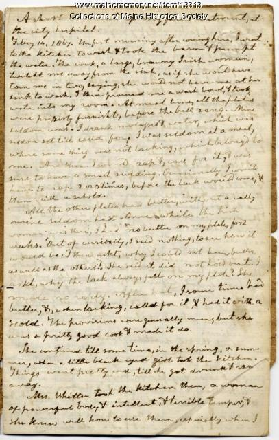 Jonathan Morgan diary, Portland