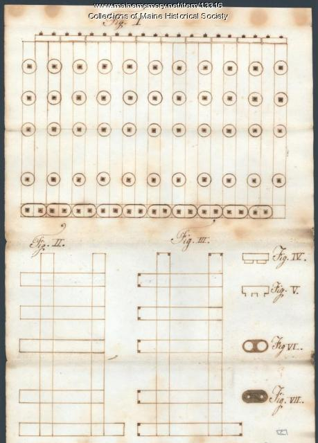 Morgan steam engine plans, ca. 1838