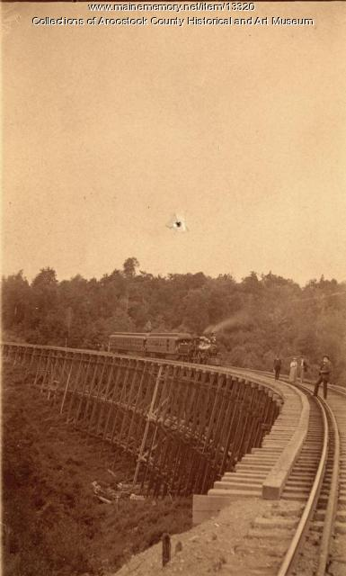 Bangor and Aroostook Railroad trestle, Houlton - 1894