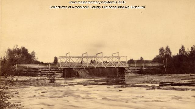Red Bridge over Jackson Falls, Houlton, 1890