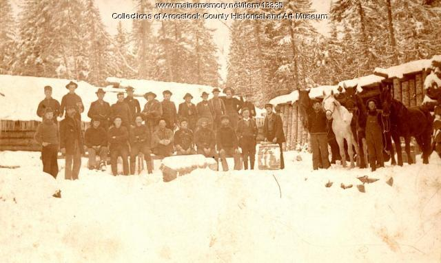 Logging camp near Houlton, ca. 1890