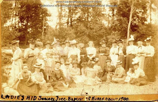 Ladies' Aid Society, Free Baptist Church, Houlton