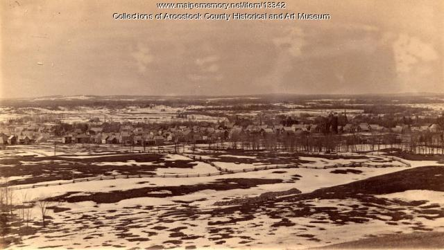 Portion of panoramic view of Houlton, ca. 1890