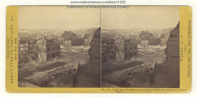 Middle Street after 1866 fire, Portland