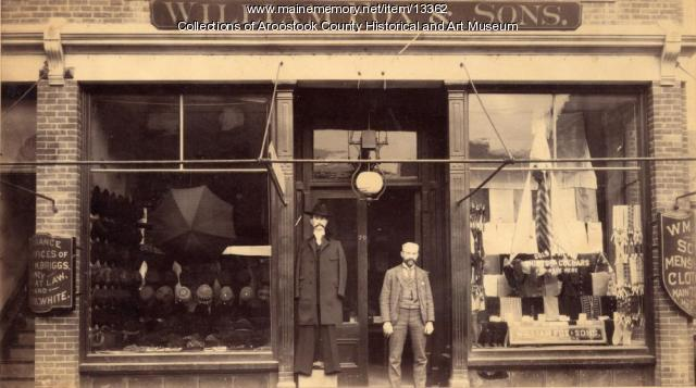 William Fox & Sons clothing store, Houlton