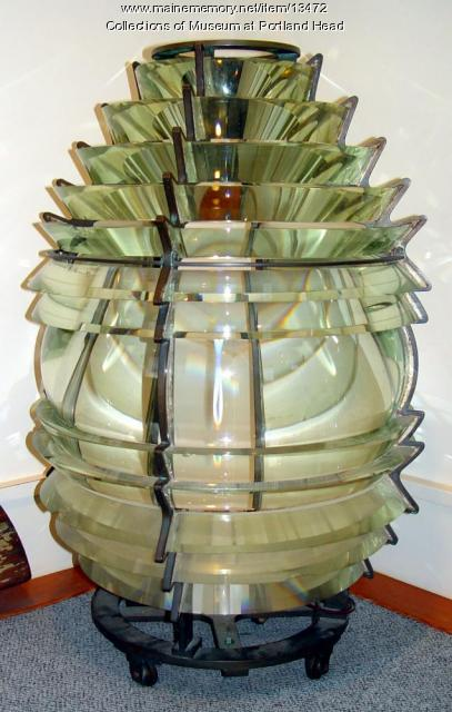 Lighthouse lens for Portland Head Light, Cape Elizabeth, ca. 1900