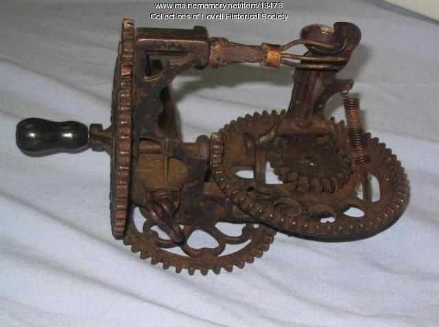 Apple corer and parer tool, Lovell, ca. 1900