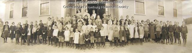 C.A. Snow School students, Fryeburg, 1923