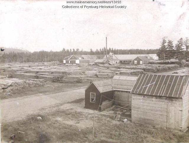 Fryeburg Lumber Box Mill, ca. 1915