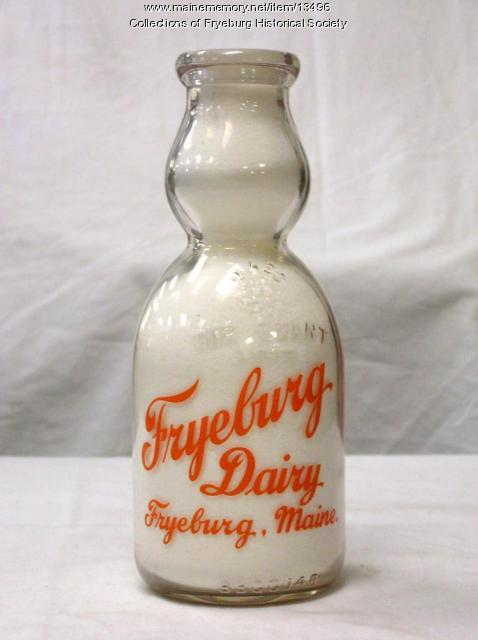 Fryeburg Dairy Creamtop Quart Bottle