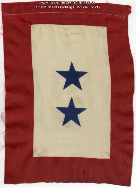 World War II Service flag, Fryeburg, ca. 1944