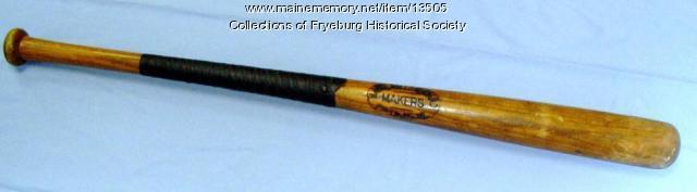 Baseball bat, Fryeburg, ca. 1940
