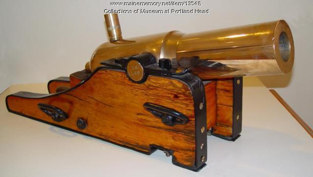 Lyle gun, Cape Elizabeth, ca. 1900