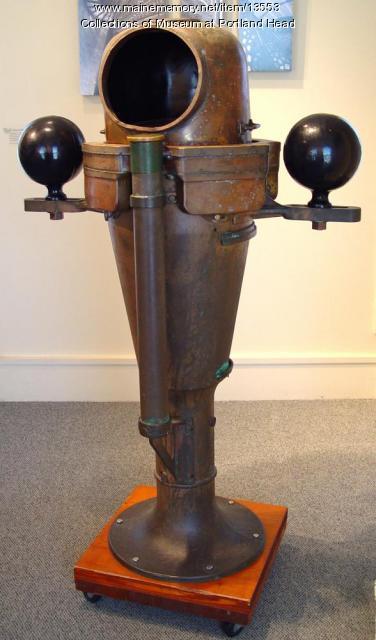 Brass binnacle and compass, ca. 1900