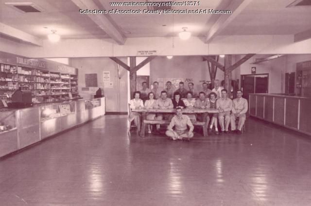 Camp Houlton Post Exchange staff, 1945
