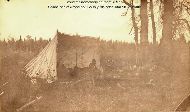 Camp, Aroostook River, 1891