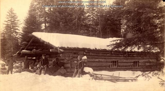 Crandall's Lumber Camp, Millinocket, 1889