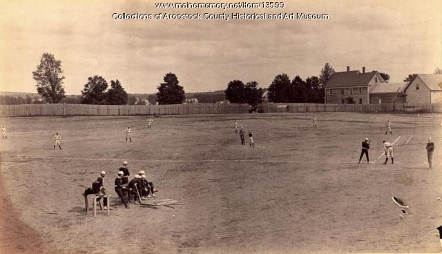 Houlton versus Portland baseball game, ca. 1895