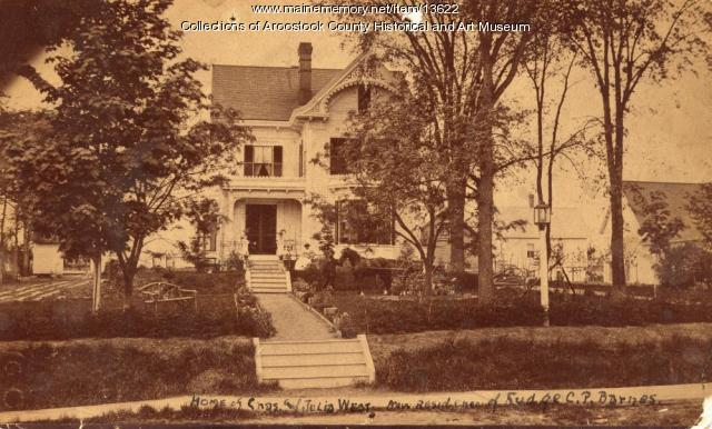 Home of Charles and Julia West, Houlton, ca. 1890