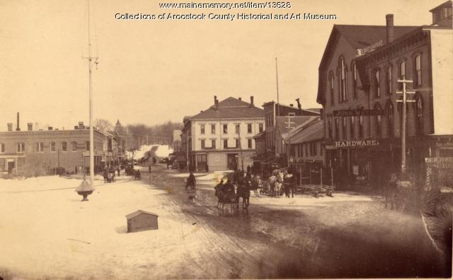Market Square in winter, Houlton