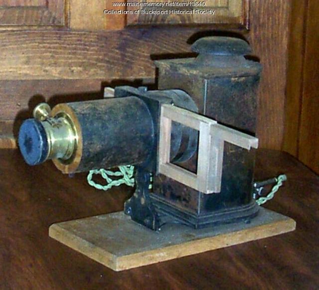 Slide projector, Bucksport, ca. 1908