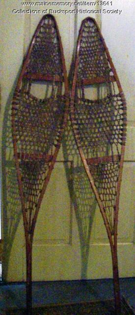 George Wardwell snowshoes, Bucksport, ca. 1909