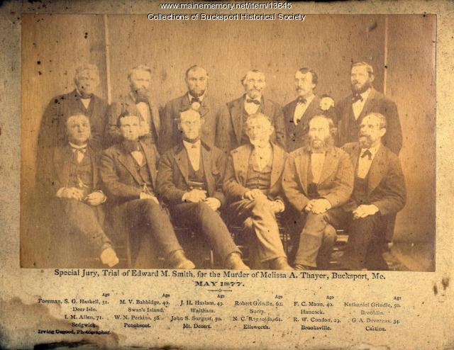 Smith trial jurors, Bucksport, 1877