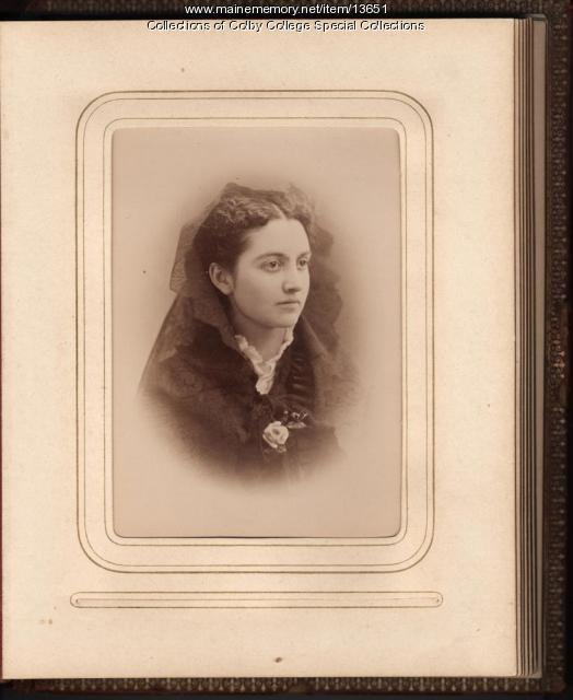 Mary Caffrey Low, Waterville, 1875