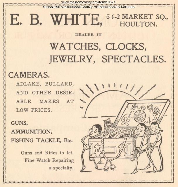 E. B. White advertisement, Houton, 1900