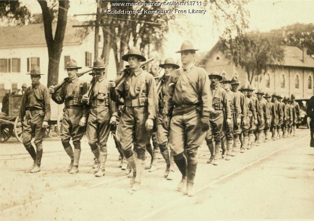 World War I soldiers, Kennebunk, ca. 1918