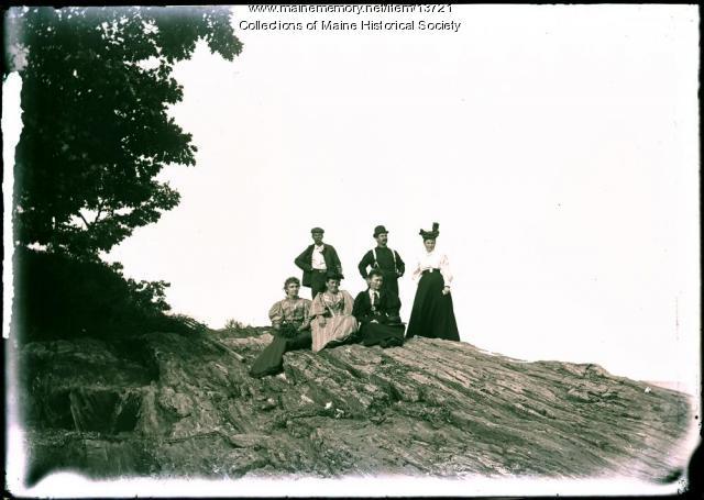 Group at Waits Landing, Falmouth, 1895