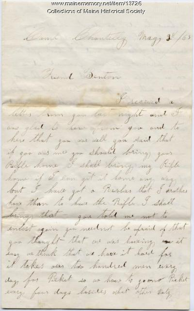 Letter from Cpl. William A. Allen, 1863
