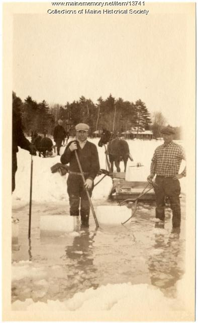 Ice business, Sebago Lake, ca. 1920