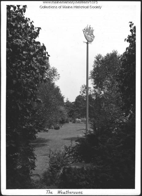 Weathervane, Booth Tarkington home, Kennebunkport, 1938