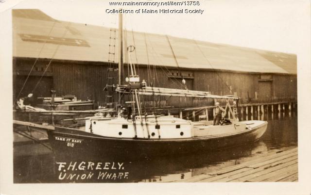 F.H. Greely, Union Wharf, Portland, ca. 1920