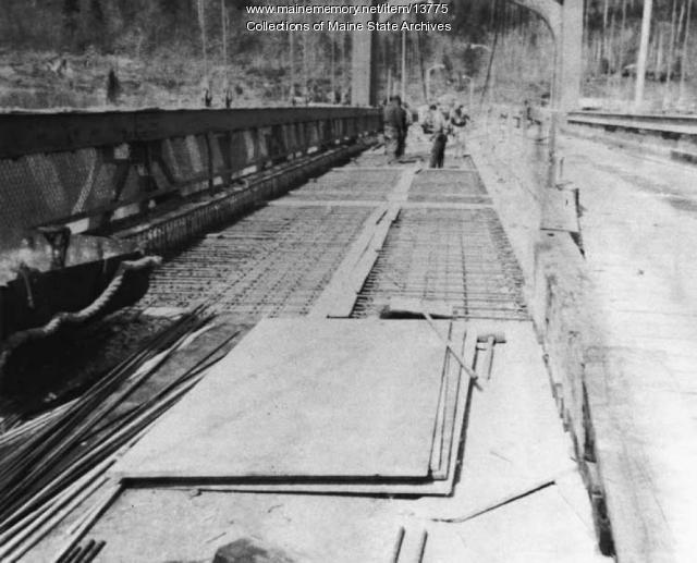 Waldo-Hancock Bridge Repairs by Maine Department of Transportation, 1960
