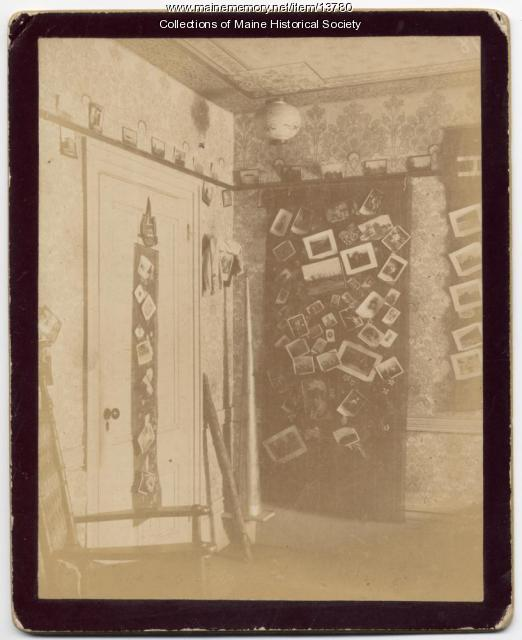 Ralph Plaisted dorm room, Bowdoin College, 1894