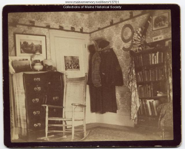 Dorm room, Bowdoin College, 1894