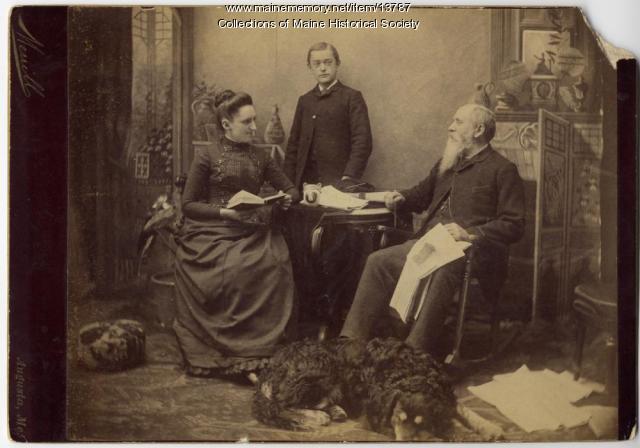 Plaisted family, Augusta, ca. 1880