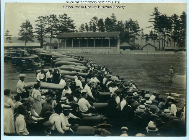 Baseball Game, Oxford County Fair, 1921