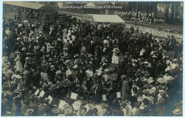 Brass Band, Oxford County Fair, 1907